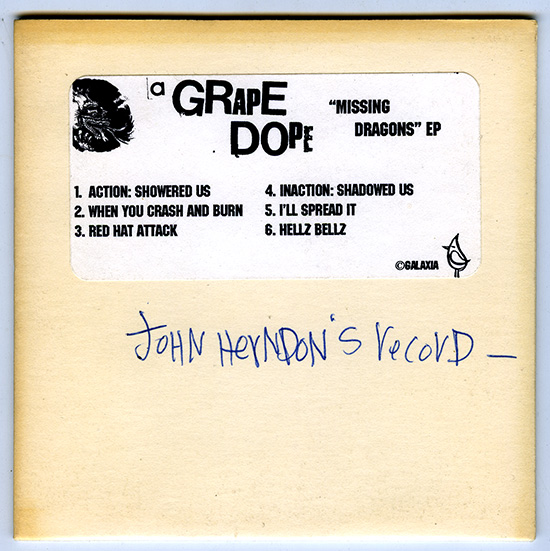 A GRAPE DOPE - John Herndon