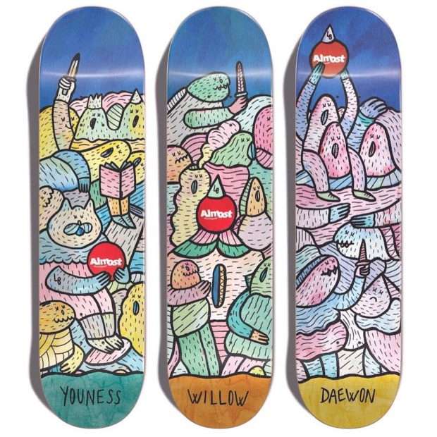 Lucas Beaufort X ALMOST skateboards